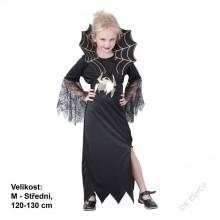 Dětský karnevalový kostým ČERNÁ VDOVA 120 - 130cm ( 6 - 9 let )
